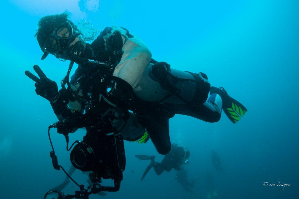 レクレーションの最大深度40mに潜る